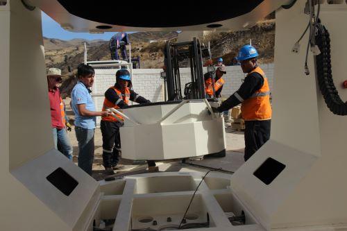 Trabajos de instalación del itchey Chrétien (RC-1M) se iniciaron esta semana en la región Moquegua.