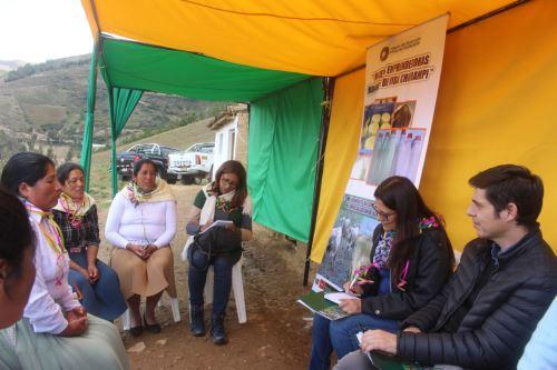 Los productores rurales de Huancavelica narraron sus experiencias por el desarrollo de sus proyectos.