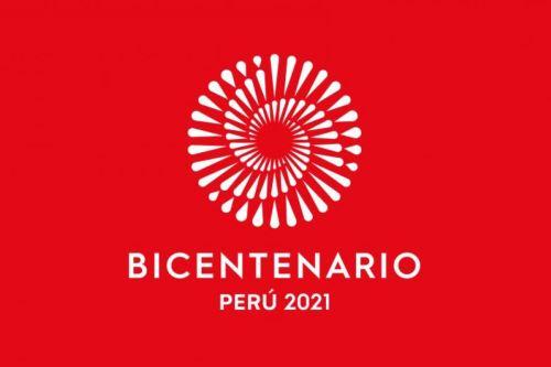 Este es el logo del Bicentenario de la Independencia del Perú, que se celebrará el 2021.