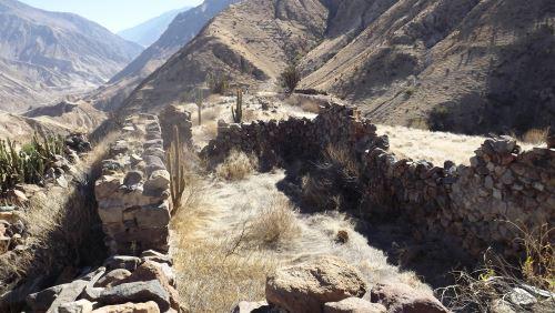 Se han identificado más de 33 estructuras rectangulares y dos circulares, así como andenes, canales de agua.