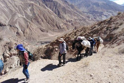 A la zona de Estagagache solo se puede acceder a pie. Después de llegar en vehículo al distrito de Quinistaquillas se debe emprender la caminata y recorrido a lomo de bestia.