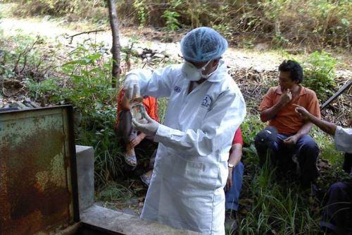 Especialistas de la Red de Salud Pacífico Norte efectuaron operativo de vigilancia y control de calidad del agua en la zona rural de Chimbote, Áncash.