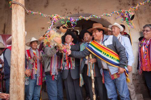 La Dirección Desconcentrada de Cultura de Cusco y la Municipalidad de Surimana firmaron convenio.