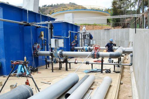 Mejoramiento del sistema de tratamiento de agua potable en la planta El Milagro beneficiará a 40,000 familias de Cajamarca.