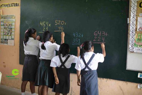 Más de 600 niños de comunidades indígenas del Bajo Urubamba se benefician con programa educativo.