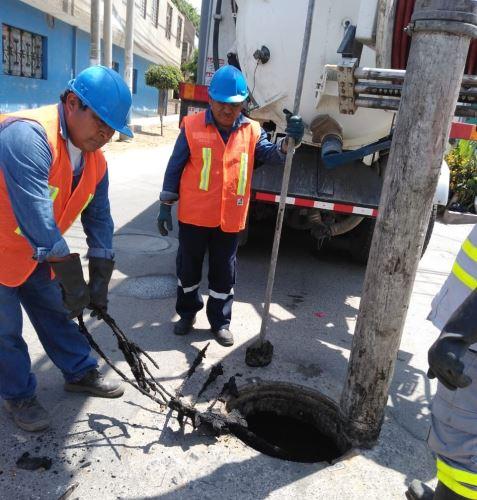 Operación Alcantarillado descolmatará 45 km de redes de alcantarillado de Ica.