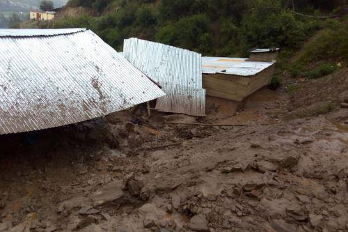 Huaico causó daños en varias viviendas del distrito de Challabamba.