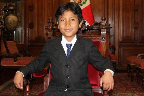 José Quisocala impulso su propuesta cuando solo tenía 7 años de edad.