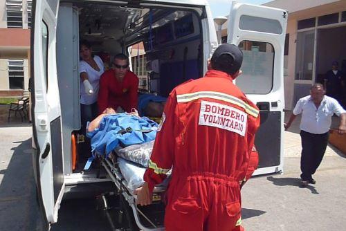 Los heridos del sismo fueron evacuados al Hospital Regional Eleazar Guzmán Barrón.