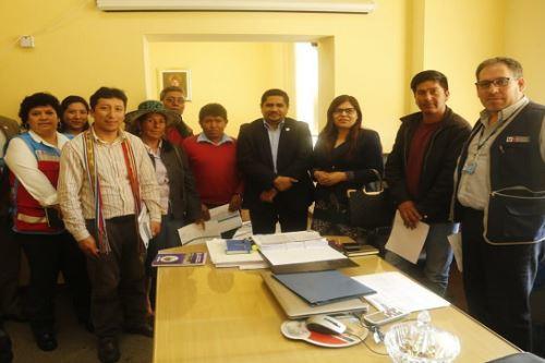 Viceministro de Prestaciones y Aseguramiento en Salud, Diego Venegas Ojeda, se reunió con dirigentes de Chumbivilcas.