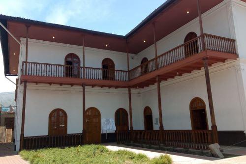 la Casa Juana Sofía Ráez Patiño está ubicada en el cruce de los jirones Atahualpa e Ica, en la ciudad de Huancayo.