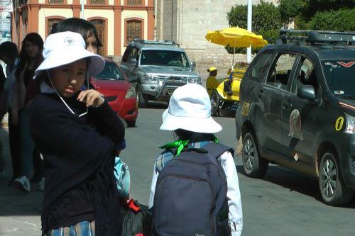 Senamhi recomendó a la población de Huancayo a no exponerse a los rayos solares a partir de las 10:00 horas.