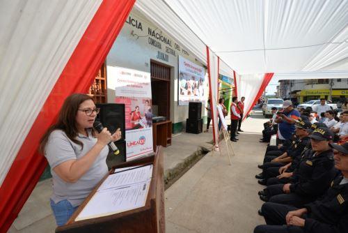 La ministra Ana María Mendieta pidió trabajar en unidad para erradicar la violencia hacia la mujer.