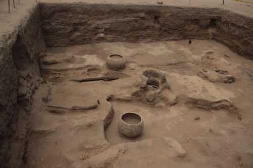 Excavaciones en el complejo arqueológico El Chorro, en Chiclayo, se iniciaron hace dos meses.