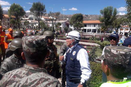 Fuerzas Armadas participaron activamente en simulacro de sismo seguido de aluvión en Huaraz, región Áncash.