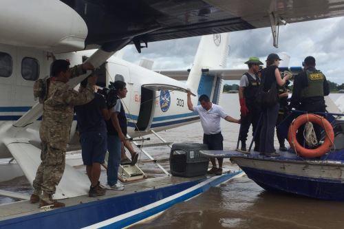 Fiscalía ejecutó operativo en el centro poblado Puerto Alegría.
