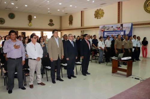 La segunda y última audiencia pública regional de rendición de cuentas fue celebrada en el auditorio de la sede del Gobierno Regional de Lambayeque.