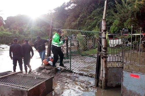 El descomunal huaico causó cuantiosos daños materiales en Huayopata.