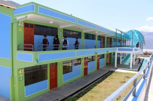 El Gobierno Regional de Apurímac dedicó parte de sus inversiones a mejorar la infraestructura educativa.