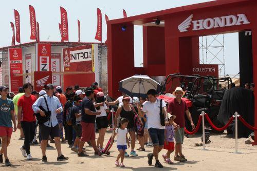 Desde el primer día el Rally Dakar 2019 generó gran interés entre el público.