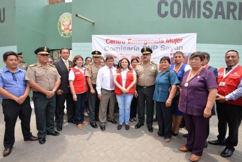 La ministra de la Mujer, Ana María Mendieta, afirmó que las mujeres de Sayán pueden acceder a servicios integrales en el nuevo CEM.