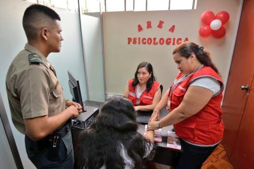CEM en la comisaría de Sayán ofrece el servicio de profesionales en psicología, asistencia social y legal.