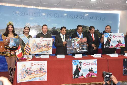 Autoridades de Puno presentaron programa oficial de la tradicional Festividad.