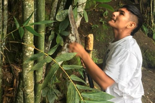 Pobladores locales al área natural protegida producen materiales alternativos al plástico.