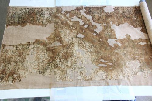 Esta es la primera vez que se hallan textiles como parte de un contexto arqueológico.