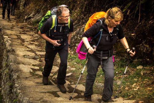Los turistas que prefieren llegar a pie a la ciudadela Machu Picchu podrán seguir esta ruta.