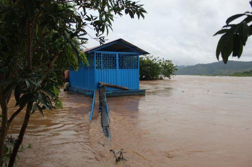 Las lluvias intensas han provocado la crecida del caudal de los ríos de San Martín.