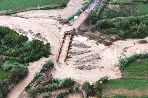 La infraestructura pública también resultó dañada por los eventos naturales en Moquegua.