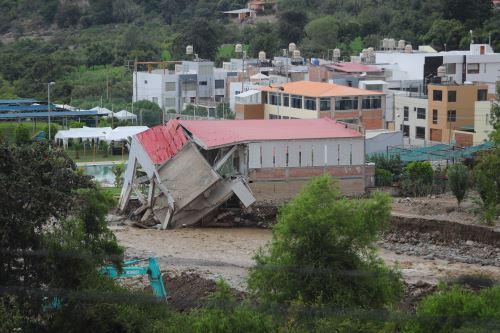 Las lluvias y huaicos causaron cuantiosos daños materiales en diversos distritos de Moquegua.