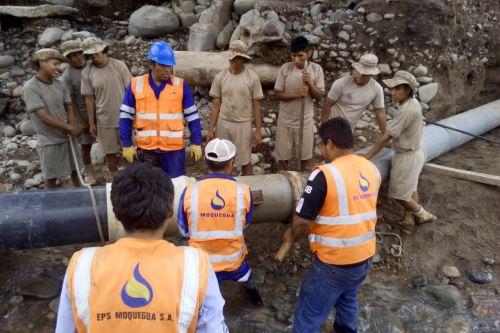 La tubería principal de las galerías filtrantes El Totoral, en Moquegua, fue arrasada por las aguas del río.