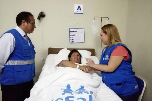 La presidenta ejecutiva de EsSalud, Fiorella Molinelli, llegó hoy a Moquegua para continuar supervisión en centros médicos.