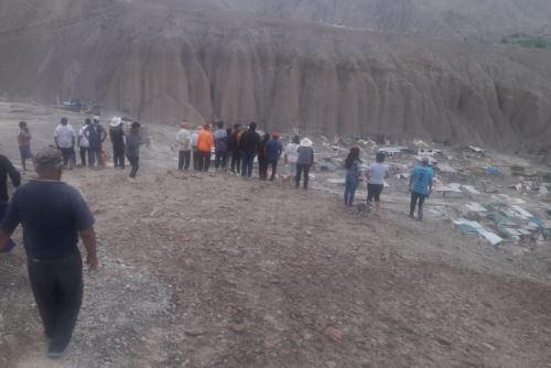 El centro poblado de Mirave, en la región Tacna, fue sepultado por un huaico de grandes proporciones.