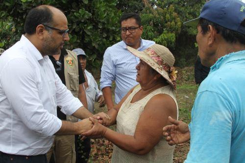 En su condición de responsable de la región Lambayeque, el ministro de Educación, Daniel Alfaro, recorrió los distritos de Motupe, Salas, Jayanca, Íllimo y Mórrope.