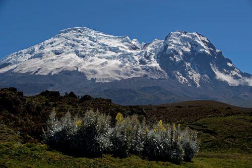 Volcán y glaciar Antisana