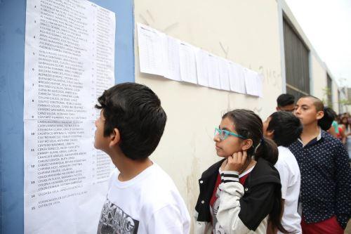 Ministerio de Educación publicó lista de ingresantes a los COAR.