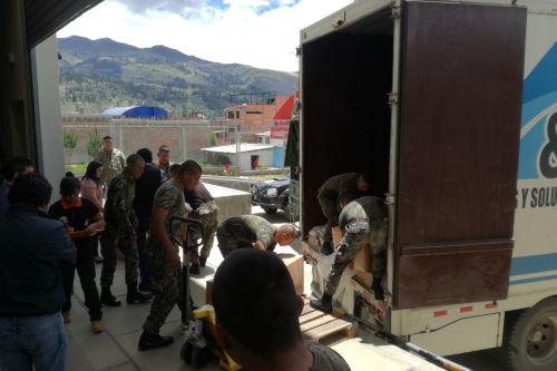 El Indeci entregó 30 toneladas de ayuda humanitaria al Gobierno Regional de Áncash para los damnificados y afectados por las lluvias.