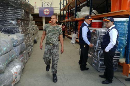 Ayuda llegó hasta al almacén de avanzada del COER de Áncash.