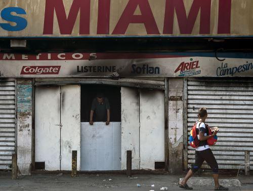 Tienda quemada en Maracaibo