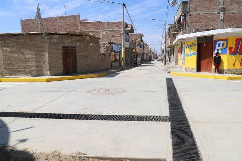 Autoridad para la Reconstrucción con Cambios ejecuta obras de infraestructura urbana en Eten, Lambayeque.