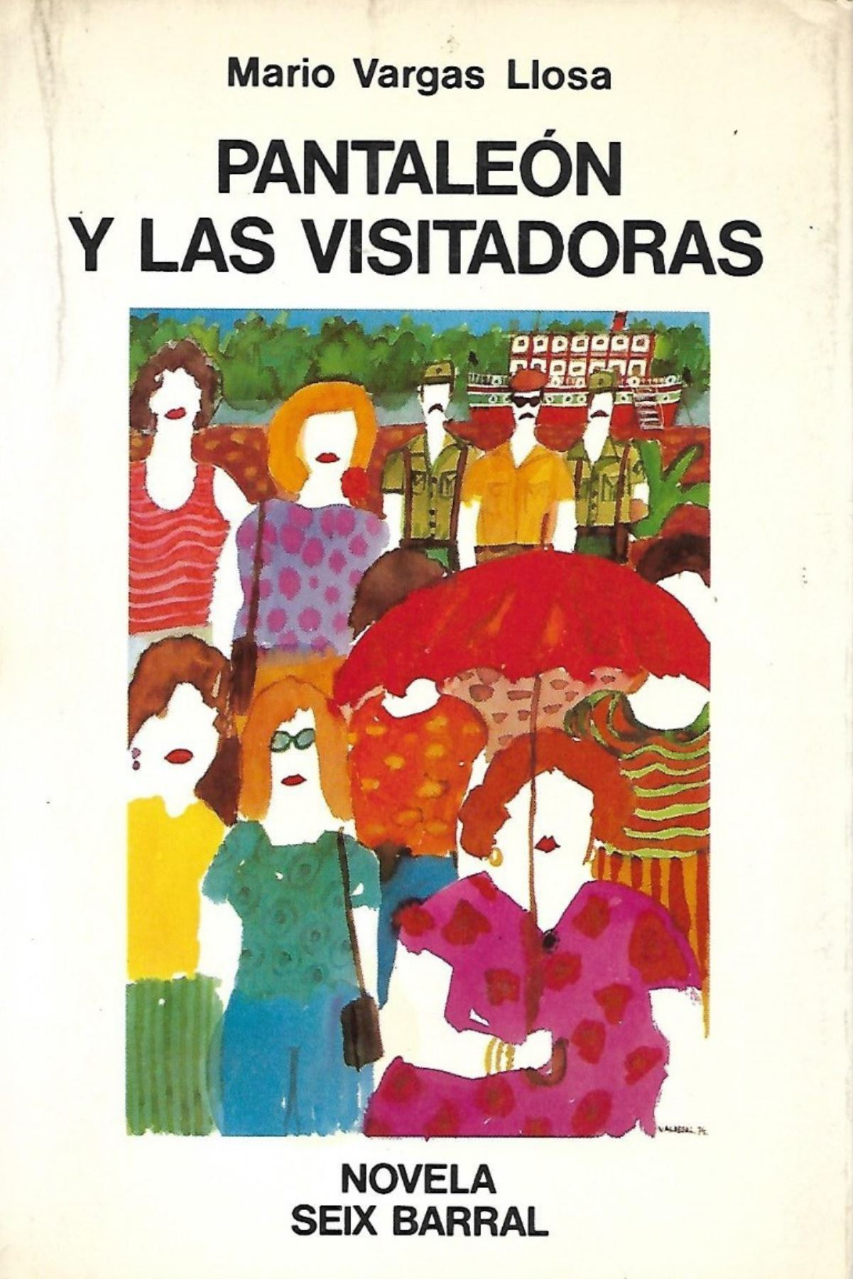 Portada de la novela Pantaleón y las visitadoras, del Premio Nobel de Literatura peruano, Mario Vargas Llosa. Enlace de foto: https://portal.andina.pe/EDPFotografia3/thumbnail/2019/03/28/000574334M.jpg