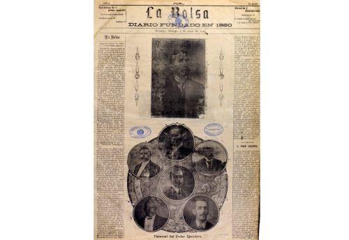 Ejemplar del diario arequipeño La Bolsa, fundado en 1860. Formó parte del proceso de digitalización.