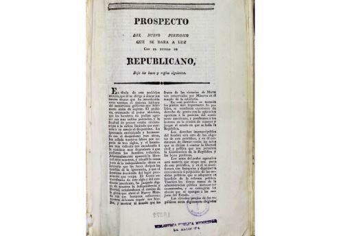Ejemplar del diario arequipeño El Republicano forma parte de los archivos de la Biblioteca Municipal de Arequipa.
