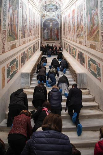Escalera santa de Roma