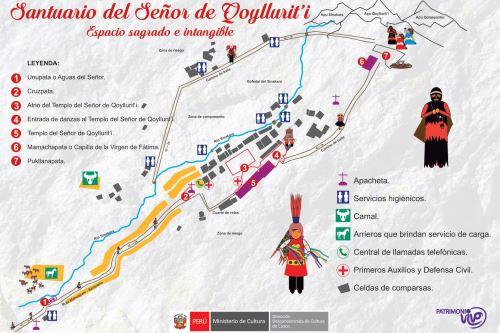 Esa es la ruta que siguen los fieles y turistas para llegar al santuario del Señor de Qoyllur Riti, ubicado al pie del nevado Kolkepunku.