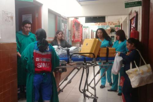 Recién nacida recibió estuvo internada en la Unidad de Cuidados Intensivos (UCI) del Hospital La Caleta de Chimbote (Áncash).