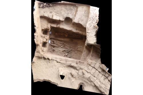 Esta es la cámara funeraria de la última mujer de la élite mochica que fue descubierta en la huaca Santa Rosa de Pucalá, región Lambayeque.